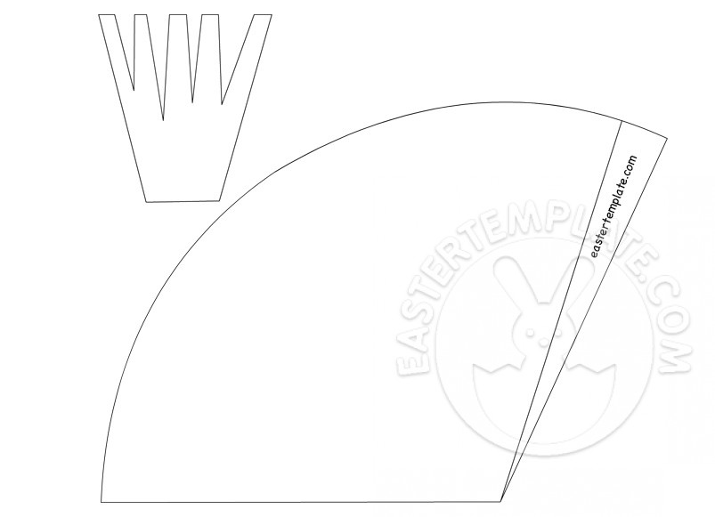 Carrot Easter Basket template