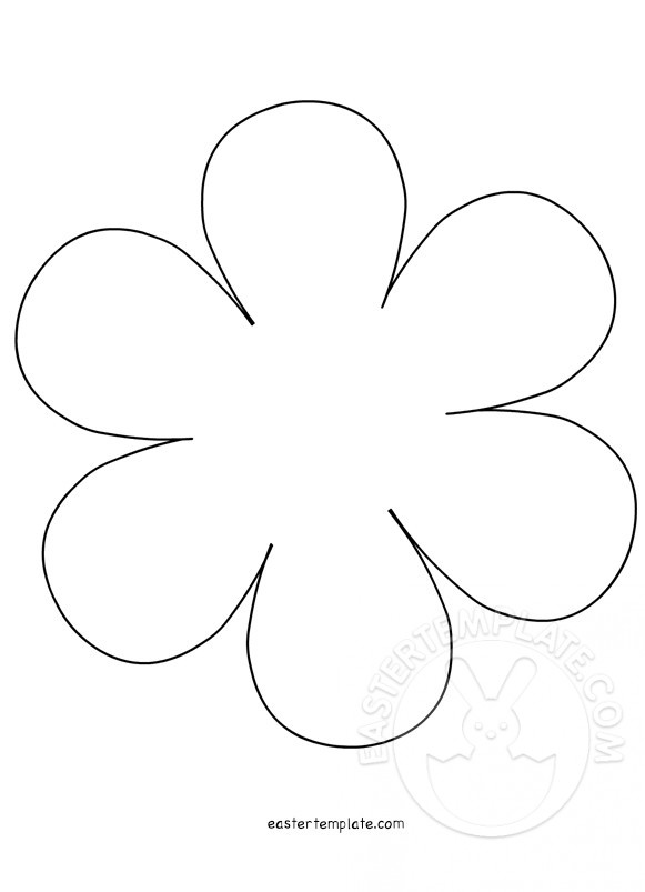 Flower Template Preschool